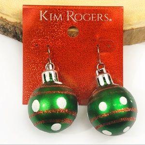 NWT Christmas ornament earrings